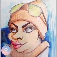 کاریکاتور چهره رنگی ۱