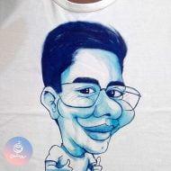 کادو تولد کاریکاتور روی تی شرت