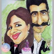 کاریکاتور چهره برای سالگرد ازدواج