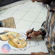 کاریکاتور چهره زوج ۳