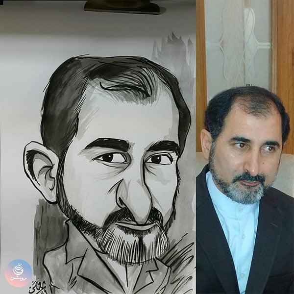 هدیه کاریکاتور چهره برای پدر