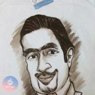 سفارش کاریکاتور چهره روی تی شرت برای هدیه