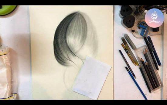 طراحی مو طبیعی – آموزش نقاشی چهره