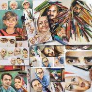 سفارشات نقاشی چهره با مداد رنگی