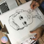 سفارش کاریکاتور چهره کودک بامزه