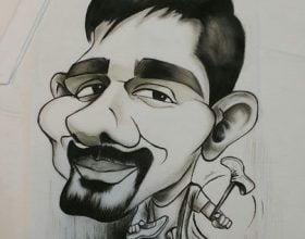 سفارش کاریکاتور چهره روی تیشرت کادو تولد