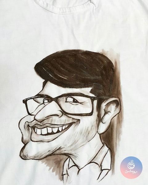 کاریکاتور چهره روی تیشرت