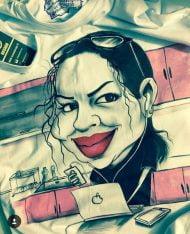 کاریکاتور چهره روی تیشرت هدیه جالب و خاص