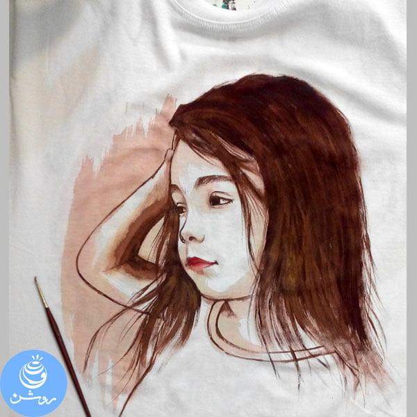نقاشی چهره روی تی شرت (۱)