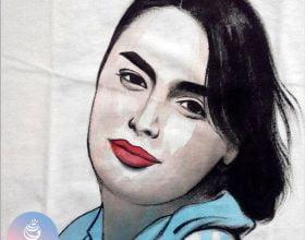 نقاشی چهره روی تیشرت۷