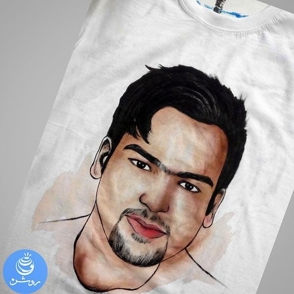طراحی چهره روی تی شرت (۹)