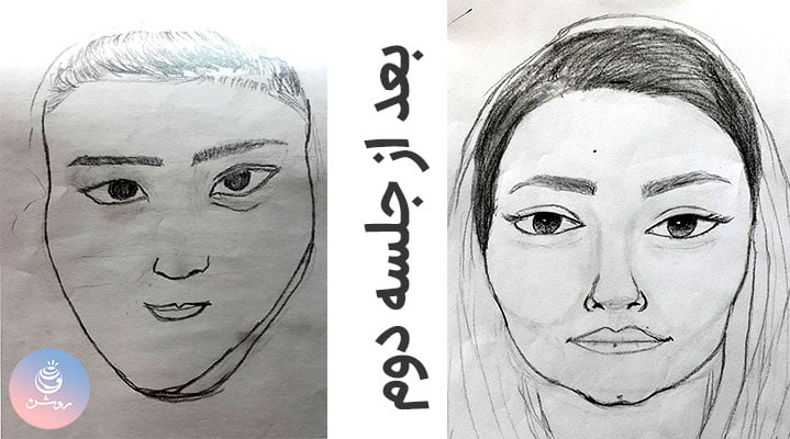 آموزش طراحی اجزای چهره –جلسه پنجم دوره ۰ تا ۱۰۰ طراحی چهره
