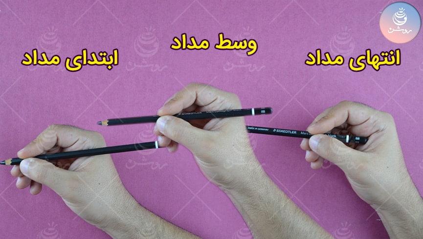 طراحی چهره با مداد و نکات طلایی: راز گرفتن مداد در دست و حرکت دست مانند استادان طراحی چهره