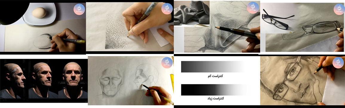 آموزش طراحی چهره - سایه و روشن چهره