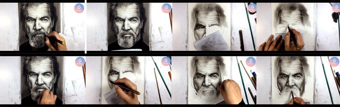 آموزش طراحی چهره - نکات طراحی با زغال