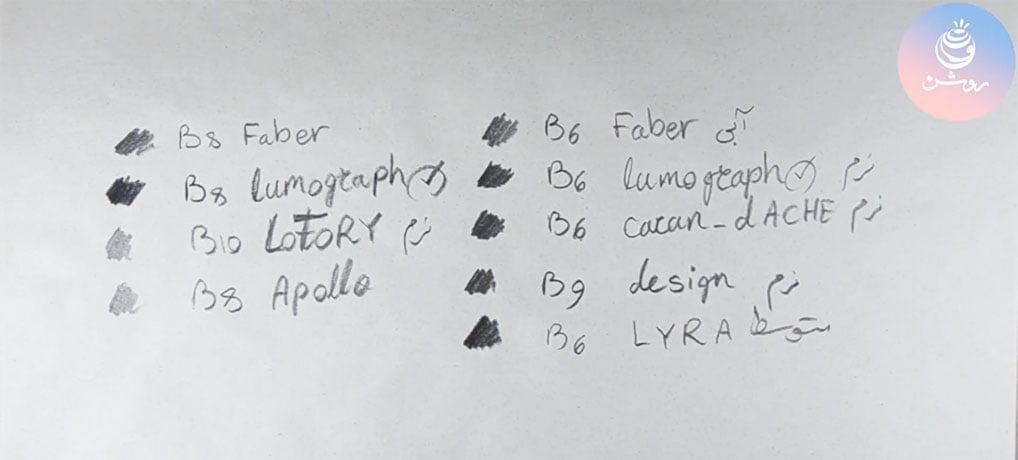 مداد سیاه طراحی