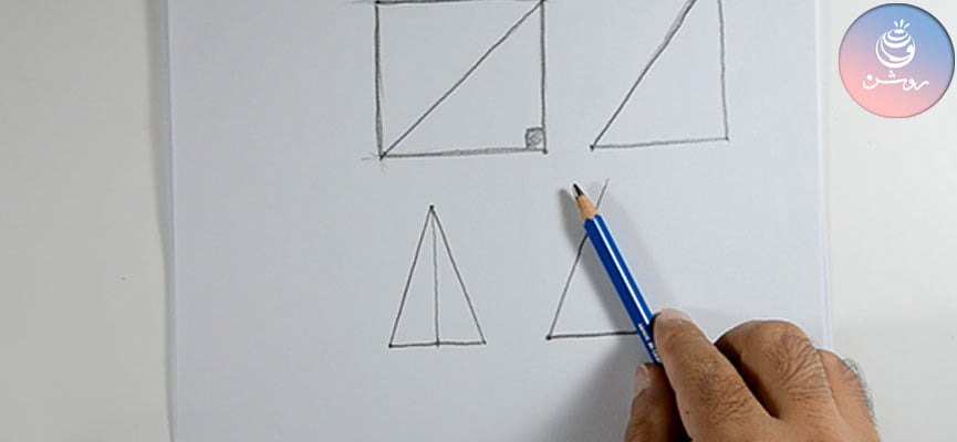 مبانی طراحی ۳ - نقاشی اشکال هندسی ساده