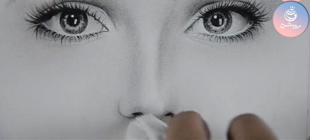 آموزش سایه پردازی چهره
