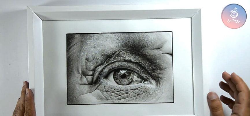 نگهداری از نقاشی سیاه قلم و مداد رنگی (برای آرشیو یا ارسال سفارش)