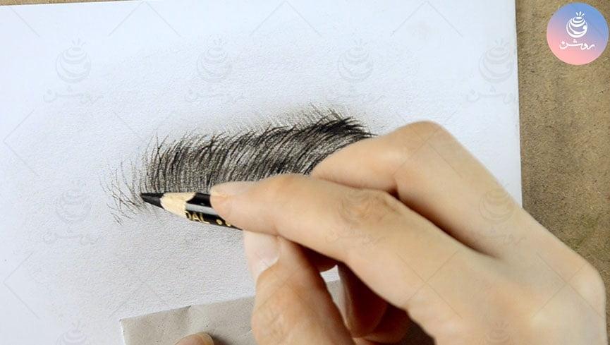 طراحی ابرو به روش هایپر رئال سیاه قلم