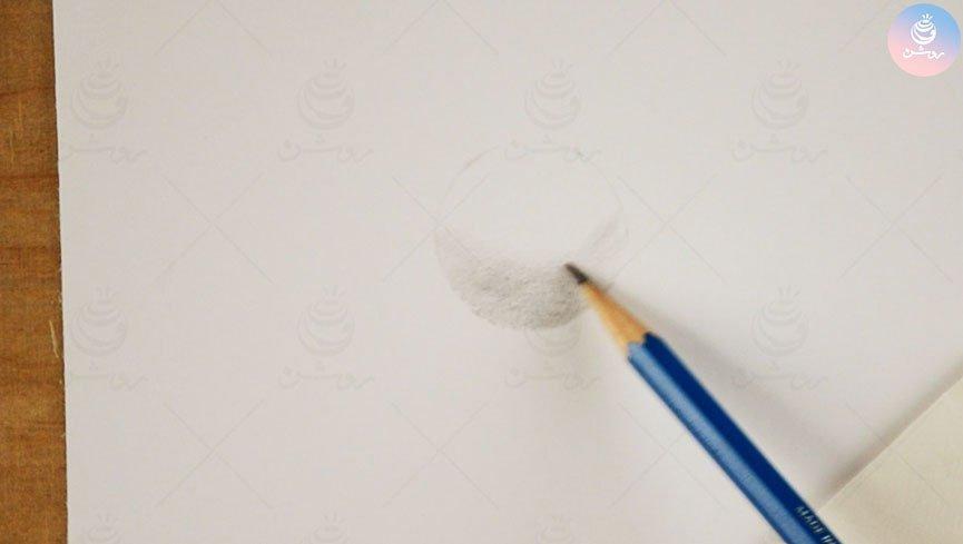 آموزش سایه زدن کره در طراحی احجام هندسی ساده - مبانی طراحی ۸
