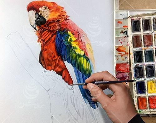آموزش نقاشی آبرنگ به سبک روشن