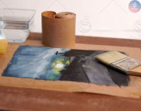 آماده سازی کاغذ آبرنگ یا شاسی کشی کاغذ قبل نقاشی!