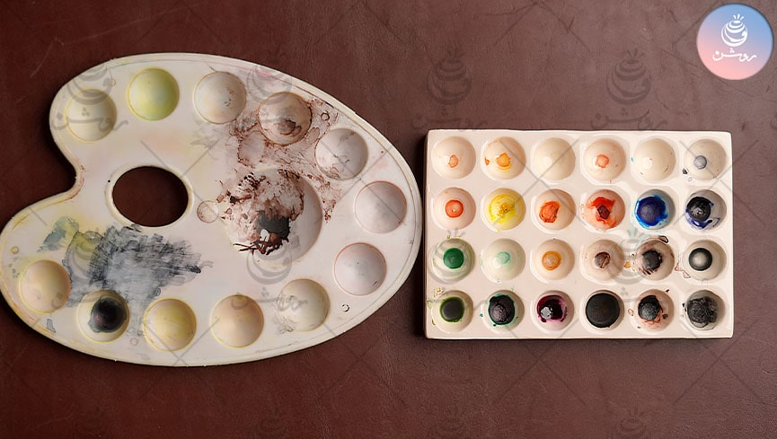 انواع پالت آبرنگ و تفاوت هر کدام در نقاشی