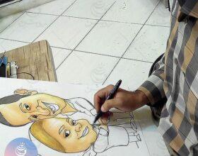 گالری طراحی و نقاشی اعضای گروه طراحی روشن و هنرجویان